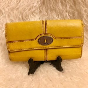 Cute Mustard Fossil Wallet